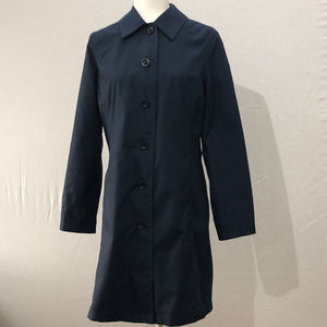 Lands' End Blue Trench Coat with Liner Size XS 2-4